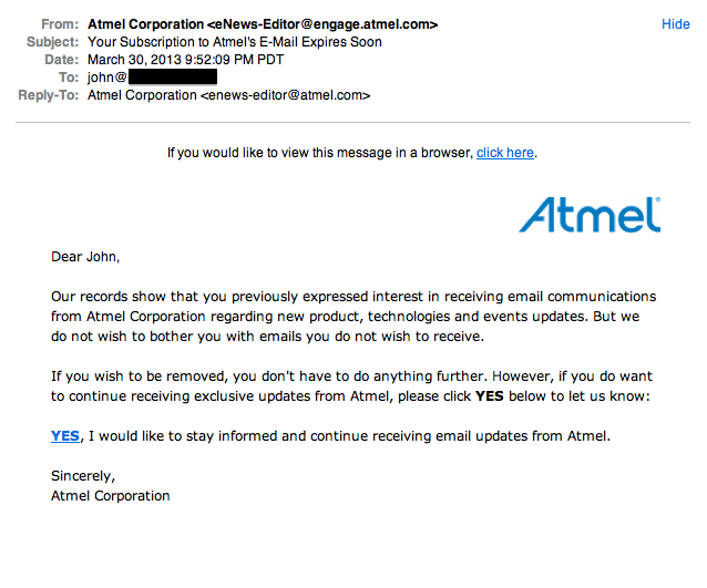 Thank you Atmel